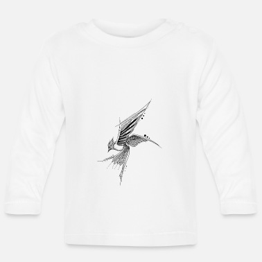Graphic Art Mandala Vogel Geometrisch Graphic art Tattoo Bird - Baby Langarmshirt