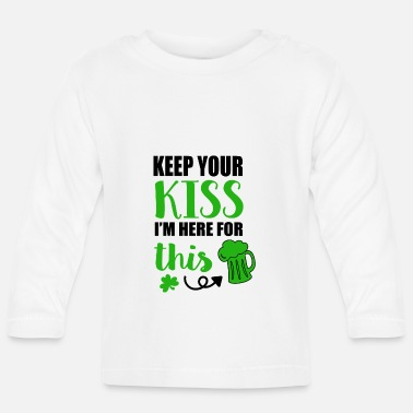 Irish Beer Keep Your Kiss Gift Irlanda Irish Beer - Maglietta maniche lunghe neonato