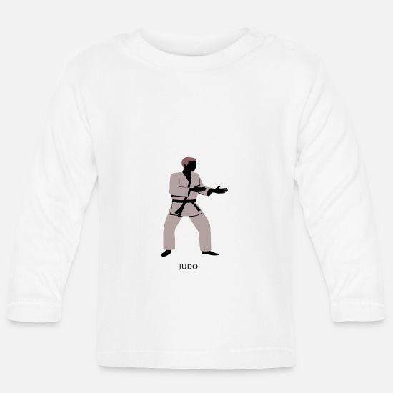 Martial Arts Baby Clothes - judo - Baby Longsleeve Shirt white