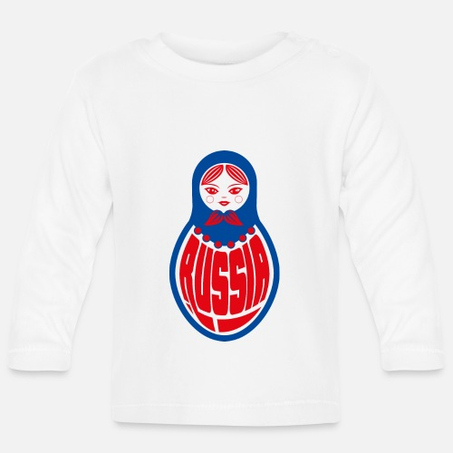 59de5089cb5b Cadeau de poupée Russie Blason Russe Russie Blyat T-shirt manches longues  Bébé   Spreadshirt