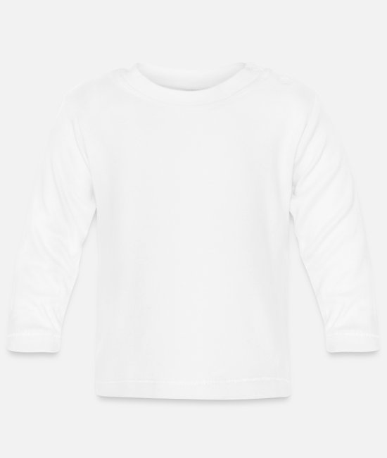 Pizza Baby Long-Sleeved Shirts - Pizza - Baby Longsleeve Shirt white