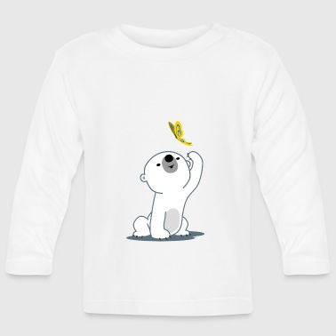 Polar Cute Cartoon Polar Bear Cub by Cheerful Madness!! - Baby Long Sleeve T-Shirt