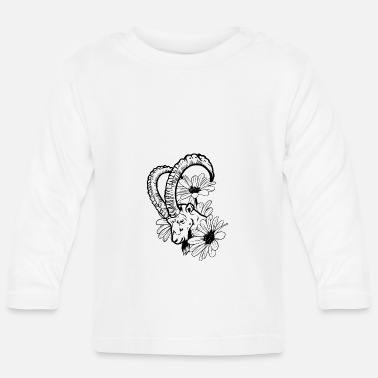 Goat And Flowers - Baby Longsleeve Shirt
