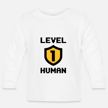 Geek Level 1 human - Langærmet babyshirt