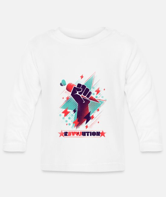 Anarchy Baby Long-Sleeved Shirts - Revolution - Baby Longsleeve Shirt white