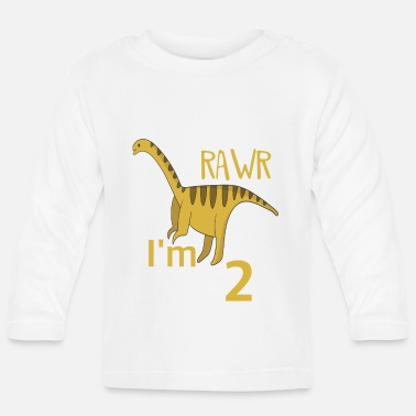 Boy Dinosaur 2 For the 2 birthday for boys Barosaurus - Baby Longsleeve Shirt