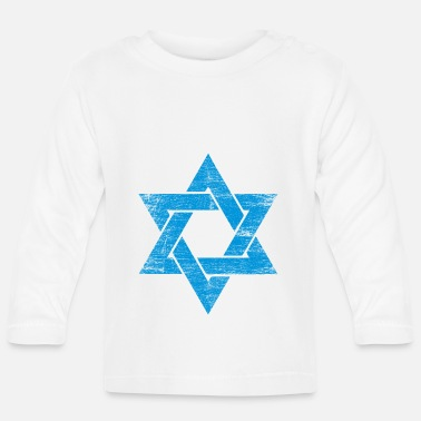 Stay With Israel Israel star jew religion star of david gift - Baby Longsleeve Shirt