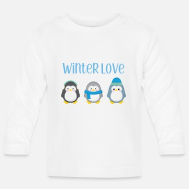 Winter Penguin - Winter - gift - Sweet - Penguins - Baby longsleeve