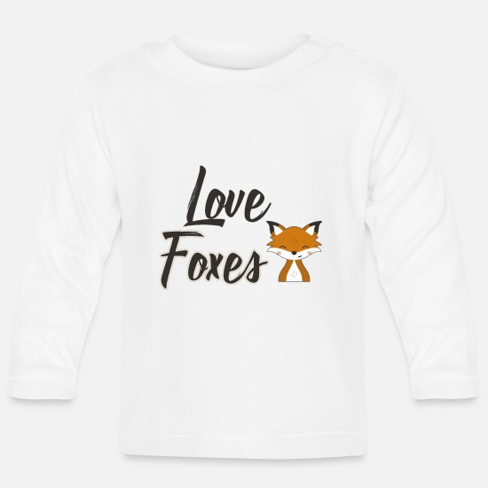 Fox Baby Clothes - Fox - Baby Longsleeve Shirt white
