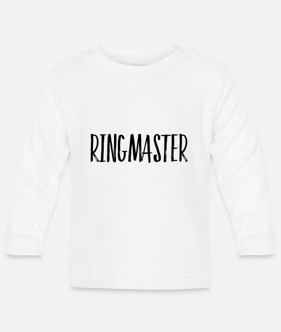 Spoke Genie Baby Long-Sleeved Shirts - ringmaster - Baby Longsleeve Shirt white