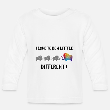 Elephant Design: I love to be a little different - Baby Longsleeve Shirt