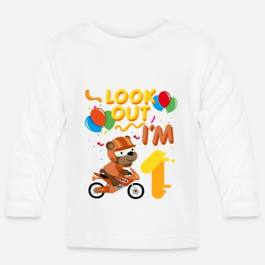 Children 1st birthday motorcycle 1 year gift - Baby Longsleeve Shirt