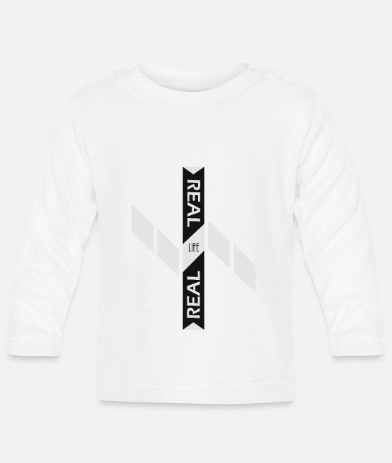 New Baby Long-Sleeved Shirts - Real life real - Baby Longsleeve Shirt white