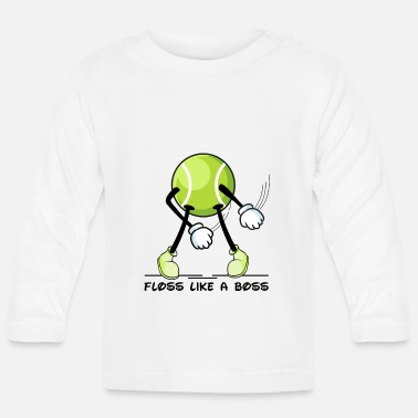 Jumpstyle Floss Dance Tennis Ball Floss som en chef - Langærmet babyshirt