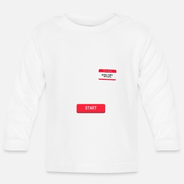 Lan-party press start and the lanparty begins for fun - Baby Longsleeve Shirt