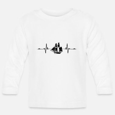 Blow Out Sailing sailboat yacht captain heartbeat gift - Baby Longsleeve Shirt