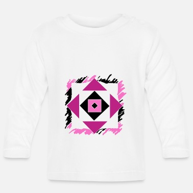 Having Fun Pink abstract art - Baby Longsleeve Shirt