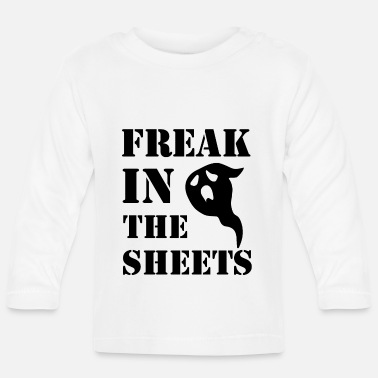 Blad Freak In The Sheets - Grappige Kantoorgrap - Baby longsleeve