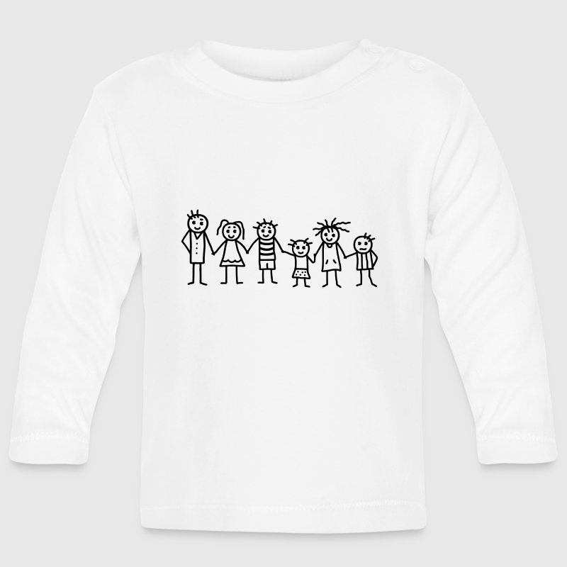 Great family - Patchwork Family - Baby Long Sleeve T-Shirt
