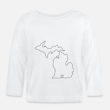 Pedir en línea Michigan Camisetas de manga larga bebé | Spreadshirt