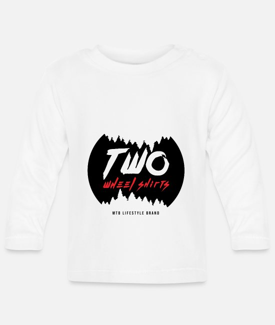 Downhill Baby Long-Sleeved Shirts - Two Wheel Shirts Desing - Baby Longsleeve Shirt white