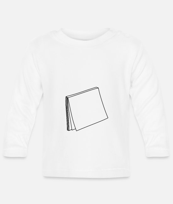 Turn Table Baby Long-Sleeved Shirts - Post it - Baby Longsleeve Shirt white