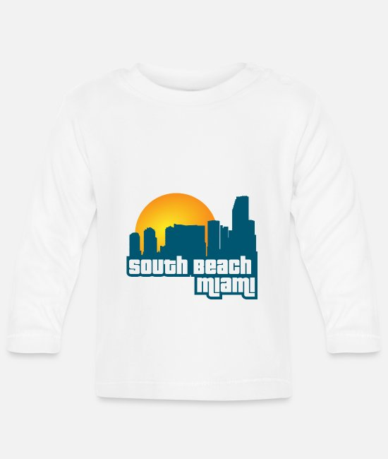Monument Baby Long-Sleeved Shirts - South Beach Miami [GTA: VC] - Baby Longsleeve Shirt white
