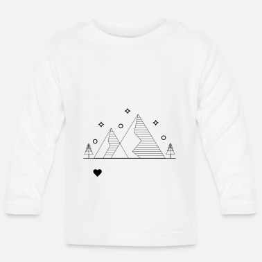 Mountains Stars - Baby longsleeve
