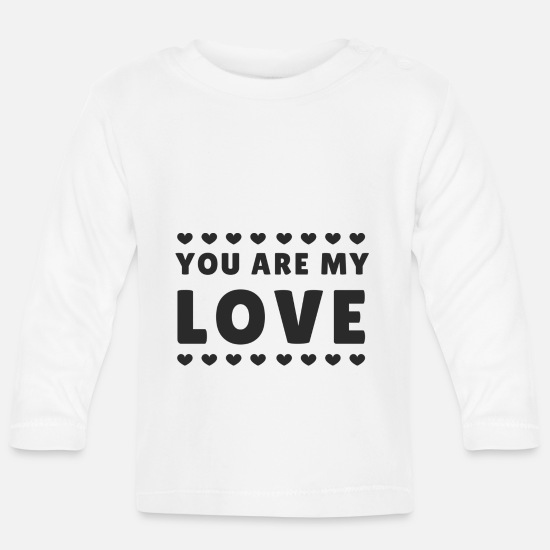 Love Baby Clothes - Proof of love Marriage proposal Valentine's Day compliment - Baby Longsleeve Shirt white