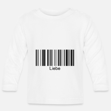 Love barcode with font - Baby Longsleeve Shirt