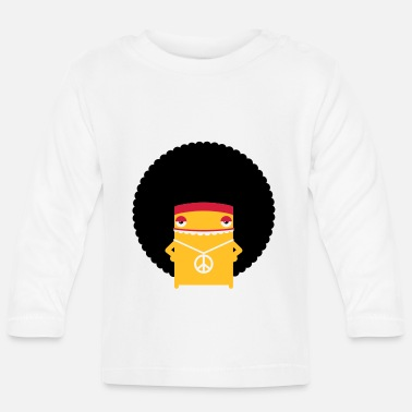 A hippie with an afro - Baby Long Sleeve T-Shirt