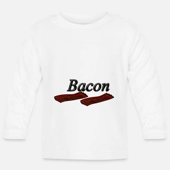 Alcohol Baby Clothes - bacon - Baby Longsleeve Shirt white