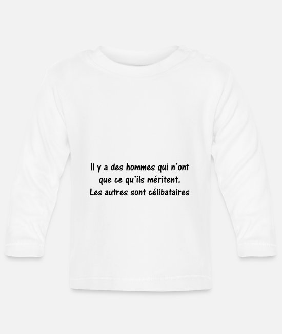 Quote Baby Long-Sleeved Shirts - quote humor - Baby Longsleeve Shirt white
