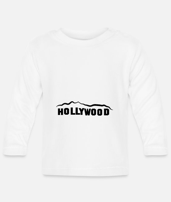 Graphic Art Baby Long-Sleeved Shirts - HOLLYWOOD - Baby Longsleeve Shirt white