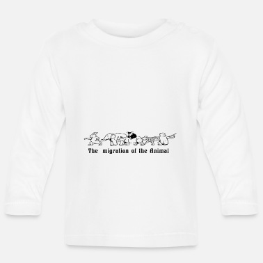 Migration Migration of the animals - Baby Longsleeve Shirt