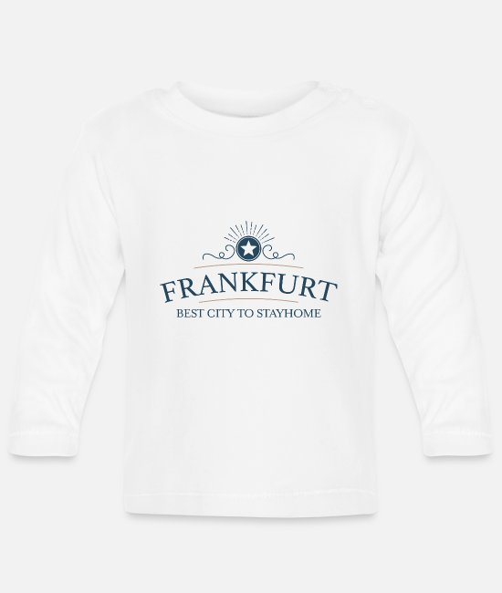 Computer Art Baby Clothes - Great gifts for Frankfurters - Baby Longsleeve Shirt white
