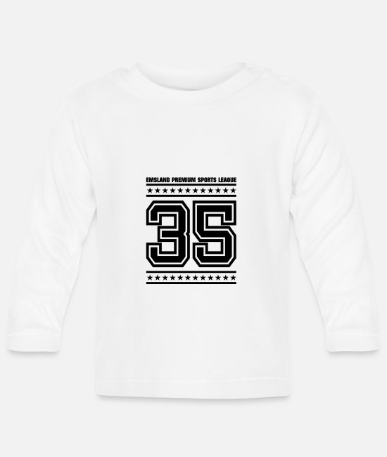 League Baby Long-Sleeved Shirts - EMSLAND Premium Sports League35 - Baby Longsleeve Shirt white