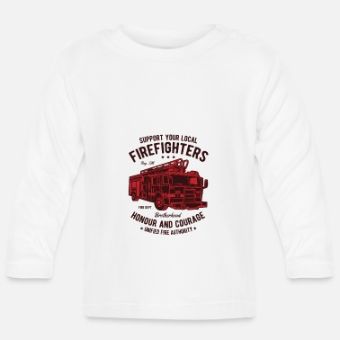 Fire Fire Fighters Truck - Baby Longsleeve Shirt