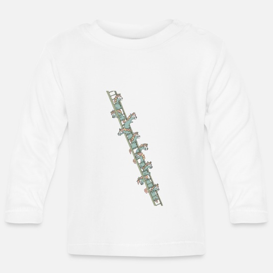 Fantasy Baby Clothes - Units on a ladder - Baby Longsleeve Shirt white
