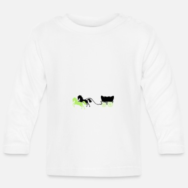 Pony carriage horses 2 - Baby Longsleeve Shirt