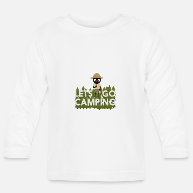 Park Ranger Camping cat in the Park Ranger uniform - Baby Long Sleeve T-Shirt