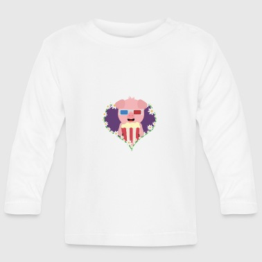 Cinema-pig with heart flower - Baby Long Sleeve T-Shirt