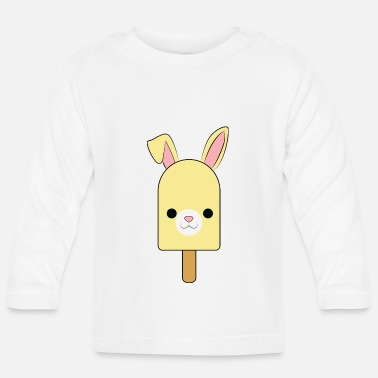 Smile cute rabbit popsicle, ice cream, hase eis niedlich - Baby Langarmshirt