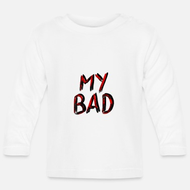 Underground My Bad // Red Black - Baby longsleeve