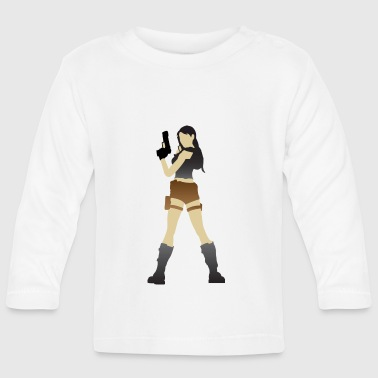 A Sexy Grave Hunter With Two Guns - Baby Long Sleeve T-Shirt