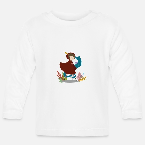 Fantasy Baby Clothes - Magical Forrestgirl - Baby Longsleeve Shirt white