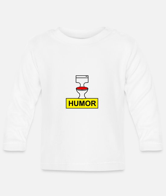 Manure Baby Long-Sleeved Shirts - Toilet Humor - Baby Longsleeve Shirt white
