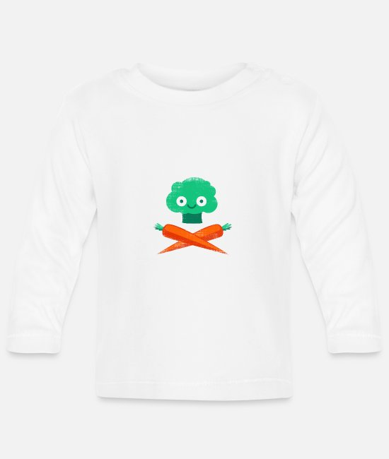 Indie Baby Long-Sleeved Shirts - Veggie Pirate - Baby Longsleeve Shirt white