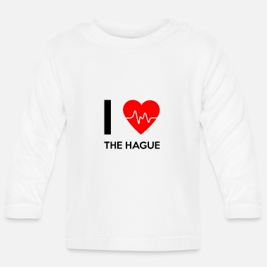 I Love I Love The Hague - I Love La Haye - T-shirt manches longues Bébé
