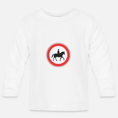 Horseman Road sign horseman - Baby Long Sleeve T-Shirt